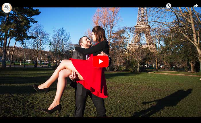 Vidéaste couple Paris, vidéo demande en mariage Paris, vidéaste engagement Paris