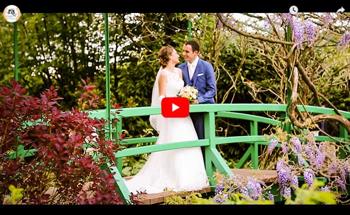 Vidéaste mariage Giverny en Normandie, vidéo mariage à Giverny, vidéo couple de mariage au jardin Claude Monet à Giverny